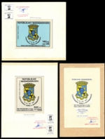 MADAGASCAR 1994. Shields Signed Stamp Artist´s Originals:3. Motif ca:1194/106mm