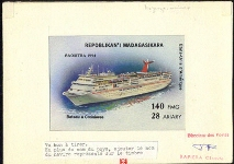 MADAGASCAR 1994. Ship USA 140FMG. Signed Stamp Artist´s Original Motif:119/96mm