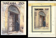 TANZANIA 1994. Architecture 250Sh. Stamp Artist´s Works. Motif:169/231 and 147/1931mm