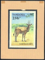 TANZANIA 1995. Animals game 250Sh. Signatured Stamp Artist´s Works. Motif:129/111mm