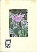 TANZANIA 1995. Cactus 180Sh. Signatured Stamp Artist´s Works. Motif:81/114mm
