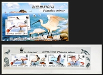 KOREA DPR 2009 WWF. Black-faced spoonbill IMPERFORATED booklet