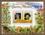 BR.VIRGIN ISLANDS 1985. Queen Mother Concorde Mushrooms butterfly rabbit rat se-tenant $1+1. Perf.DeLuxe BULK:10x