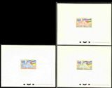 CENTRAL AFRICAN REP. 1961 UNITED NATION maps flags DeLuxe proofs:3
