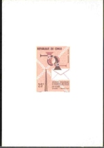 CONGO-BRAZAVILLE 1964. Mail and Telecom 25f. DeLuxe proof
