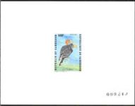 CAMEROON 1985. Scary bird with orange head DeLuxe proof