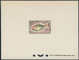 FRENCH SOMALI COAST 1962. very ugly fish 6f deluxe