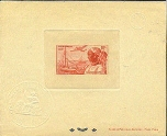 GUADELOUPE 1947. Harbour 200F red. DeLuxe proof. ministry seal