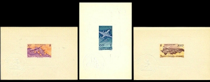 NEW CALEDONIA 1948 Calédonie. Airplanes. DeLuxe Proofs.Ministry seal