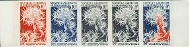 NEW CALEDONIA 1965. Marine Life 10F Imperf. Proofs :5-strip