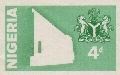 NIGERIA 1980 Philatelic Services. Progressive Proof :Green