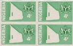 NIGERIA 1980 Philatelic Services. Progressive Proof :Green 4-Block