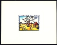 FRENCH POLYNESIA 1970 paiting Tree 100F DeLuxe proof