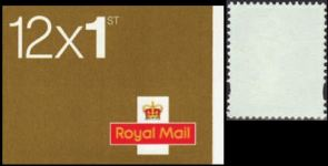 GREAT BRITAIN. Test booklets 12x1st. Stamps with NO PRINT