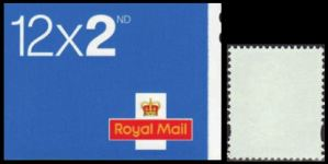 GREAT BRITAIN. Test booklets 12x2nd. Stamps with NO PRINT