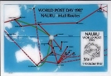 NAURU 1987. UPU Map $1.ERROR:no yellow