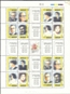 URUGUAY 1990. Famous Persons Sheet:4x4 stamps ERROR: Drunk print