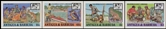 ANTIGUA & BARBUDA 1987 Scouting animals. IMPERF.4-BLOCKS (16 stamps)