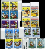 ANTIGUA & BARBUDA 1984 Disney Christmas Donald Duck 9v. Imperf.pairs :9 (18 stamps