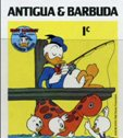 ANTIGUA & BARBUDA 1984 Disney Christmas Donald Duck fishing 1c. IMPERF.