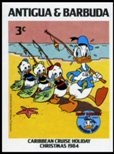 ANTIGUA & BARBUDA 1984 Disney Christmas Donald Duck fish 3c. IMPERF.