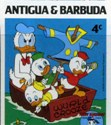 ANTIGUA & BARBUDA 1984 Disney Christmas Donald Duck boat fishing googles 4c. IMPERF.