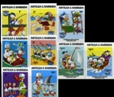 ANTIGUA & BARBUDA 1984 Disney Christmas Donald Duck 9v.IMPERF.SET :9