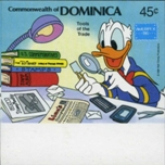 DOMINICA 1986 Disney Donald Duck Ameripex 45c. IMPERF.MARG