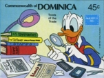 DOMINICA 1986 Disney Donald Duck Ameripex 45c. IMPERF.