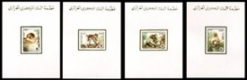 ALGERIA 1988 WWF Barbary Macaque DeLuxe Proofs.Sheets:4