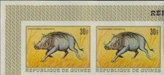 GUINEA/guinee 1968. Warthog 30F. Imperf.Pair