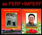 KOREA DPR (north) 2012 Kim Jung-Il Kim Jung-Un IMPERF.+PERF. SHEETLETS:4 [IMPERF.PRINT:1000] BULK:10x (total 40 sheetlets)