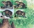 LIBERIA 2003 WWF Liberian mongoose OVPT:new values.IMPERF:4-Block