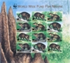 LIBERIA 2003 WWF Liberian mongoose OVPT:new values.IMPERF sheet:12 stamps
