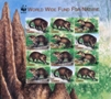 LIBERIA 1998 WWF. Liberian Mongoose Imperf sheetlet:12 stamps