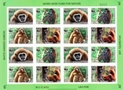 LAOS 2007 WWF. White-handed Gibbon ape.IMPERF.SHEET (16stamps)