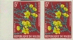 NIGER 1960. Flowers 5F. Imperf.pair