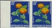 NIGER 1960. Flowers 15F. Imperf.pair