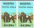 NIGERIA 1990. Mountain Gorilla N2.50. IMPERF.PAIR