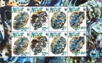NIUE 2002 WWF. Small Giant Clam. Ovpt.SPECIMEN.sheet:8 stamps.BULK:2x