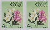 NAURU 1973. Flowers Denea 4c. IMPERF.PAIR
