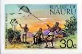 NAURU 1973. Catching Noddy Birds 30c. IMPERF