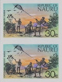 NAURU 1973. Catching Noddy Birds 30c. IMPERF.PAIR