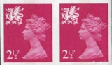 GREAT BRITAIN-Wales 2004 2½p IMPERF.PAIR