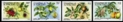 ST VINCENT GRENADINES 1985. Fruits & Flowers IMPERF.PAIRS :4 (8 stamps)
