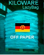 Germany-DDR LazyBag 500g (2LB-3oz) off paper commemoratives KILOWARE