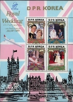 KOREA DRP (north) 1982 Diana Birthday Concorde palace. OVPT:BLUE Sheetlet (4 stamps).BULK:3x