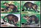 LIBERIA 2003 WWF Liberian mongoose OVPT:new values:4 as two pairs