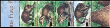 LIBERIA 2003 WWF Liberian mongoose OVPT:new values:4-Strip margins