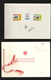 AFGHANISTAN 1968 Fast Horses Olympics Mexico Signatured Proofs:3 official folder